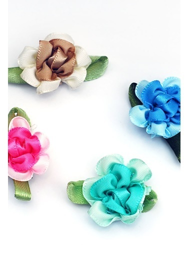 Funbou Saten Çiçek Süs / 25 Adet Mavi